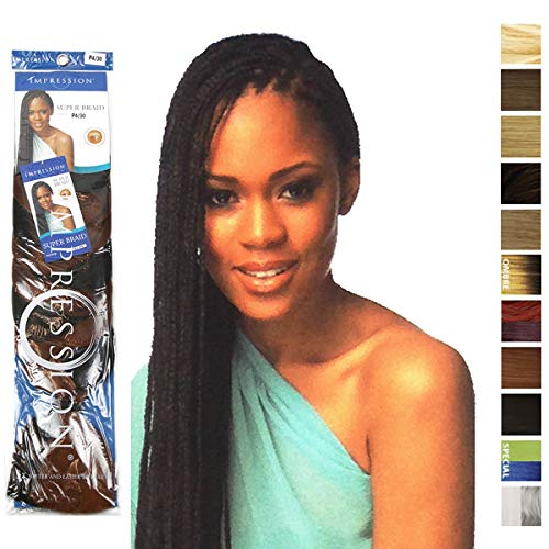 IMPRESSION SUPER BRAID HAIR EXTENSIONS 86 (WEIGHT 175gm) COLOUR~1(jet black) by Impression