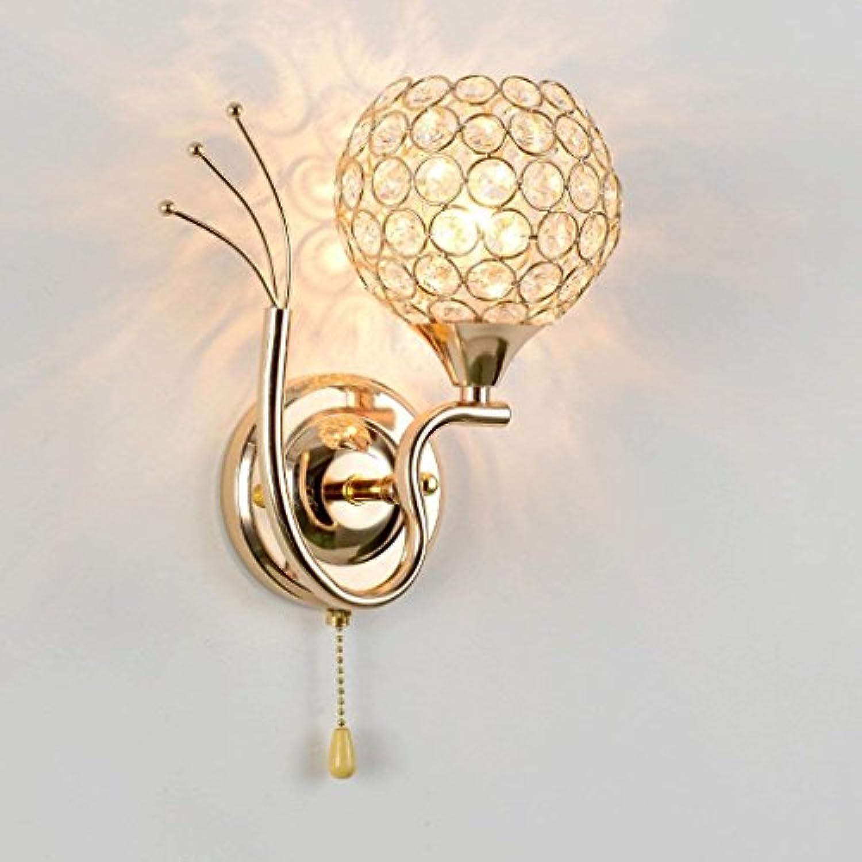 WLDD Kristall Wandleuchte Nachttischlampe Schlafzimmer Moderne Einfache Kreative Wohnzimmer Gang Wandleuchte Dekorative Lighting-22  14 cm