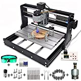 MYSWEETY CNC 3018 Pro CNC Machine, Mini 3 Axis CNC Engraving Machine GRBL Control DIY Carving Milling Machine, DIY Wood PCB CNC Router Engraver with 5.5W Module【Milling Area 300x180x45mm】