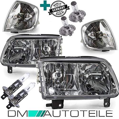 DM Autoteile Polo 6N2 Scheinwerfer Set Frontblinker Weiß 99-01 H7/H1 +BIRNEN +3J. GARANTIE