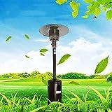 Nileco Exterior de Gas Calentamiento Rápido,Seguridad Bajo Consumo Calefactor Ahorro de Energía Natural Gas Gas Licuado,Calentador Gas Patio Acero Inoxidable