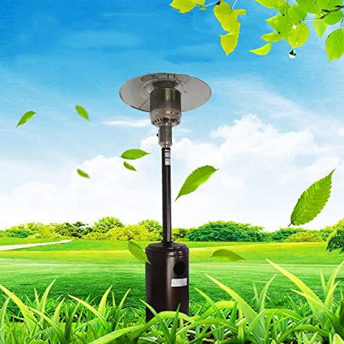 L-ELEGANT Calentador Gas Patio Acero Inoxidable,Exterior de Gas Calentamiento Rápido,Seguridad Bajo Consumo Calefactor Ahorro de Energía Natural Gas Gas Licuado-Gas Licuado 225cm(88in)