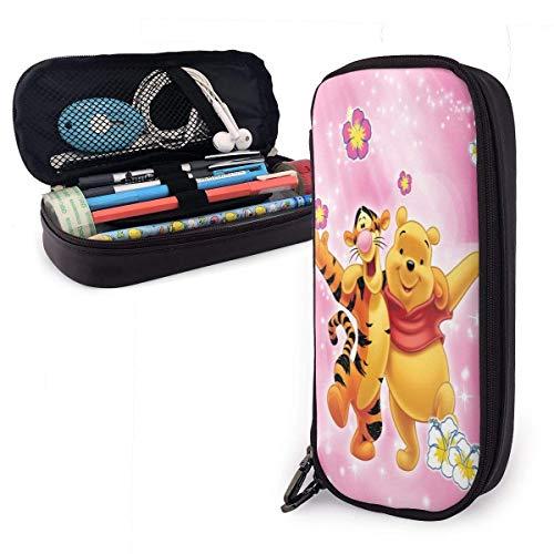 Astuccio per matite Cartone animato Winnie The Pooh Orso Tigro Grande capacità di cancelleria Organizer Custodia per trucco Custodia con cerniera