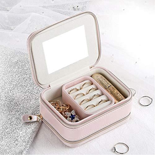Organizador de joyas Joyero con cremallera Cofre de joyería Almacenamiento de maquillaje portátil Organizador de maquillaje de múltiples capas Caja de viaje de belleza