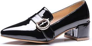 BalaMasa Womens APL11828 Pu Block Heels