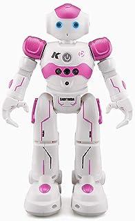 Haibei ロボットおもちゃ ラジコンロボット ログラム可能 ジェスチャ・手振り制御 男の子のおもちゃ 多機能ロボット 歩く ダンス ソング 誕生日 七五三 クリスマス プレゼント (ピンク)