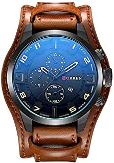 Curren Casual Watch For Boys Analog Leather - 8225