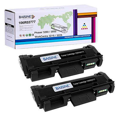 BAISINE Compatible 106R02777 Black Toner Cartridge for WorkCentre 3215 3215NI 3225 3225DNI Phaser 3260 3260DI 3260DNI 3052 Printer - High Yield 2 Pack - 3,000 Pages