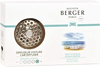 MAISON BERGER - Refillable Car Vent Clip Diffuser Set - 3.1 x 2 x 0.8 inches - Made in France (Ocean Breeze)