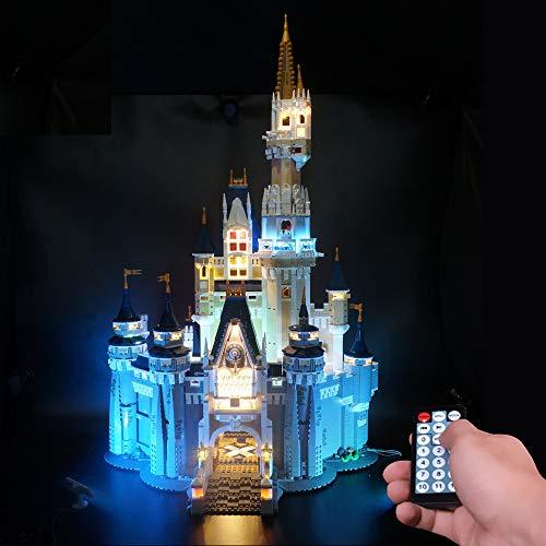 LODIY Luci LED Kit con Telecomando per Lego Castello Disney 71040 - Illuminazione Luce LED Light Kit Compatibile con Lego 71040 (Modello Lego Non Incluso)
