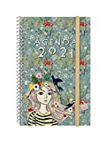 Finocam - Agenda 2021 Semana vista apaisada Espiral Design Collection Lady Español,...