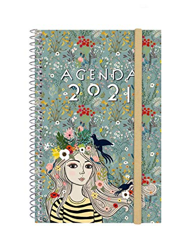 Finocam - Agenda 2021 Semana vista apaisada Espiral Design Collection Lady Español, Mediano - E5-117x181 mm