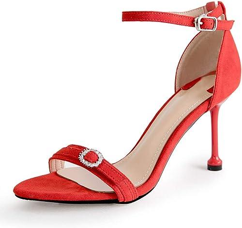 Sandales pour Les Les Les dames en Cuir, Chaussures pour Les Les Les dames, Talons Hauts, Chaussures de soirée, Chaussures de soirée d'été