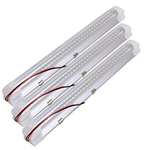 Kernorv 3 Stück LED Innenraumbeleuchtung Auto Interior Licht 72 LED Innenleuchten 12V Beleuchtung led lichtleiste für Caravan Boot Kabine LKW Zelte Garage Wohnmobil