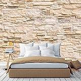 murimage Papel Pintado Muro de Piedra Óptica 3D 366 x 254 cm Incluye Pegamento Fotomurales Piedras vintage rústico ladrillo