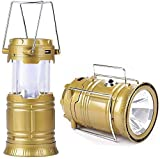 Bhabha Sales® 5800 LED Solar Emergency Light Travel Camping Lantern with USB Mobile Charging, Torch Point, 2 Power Source, Lithium Battery (Multicolour)