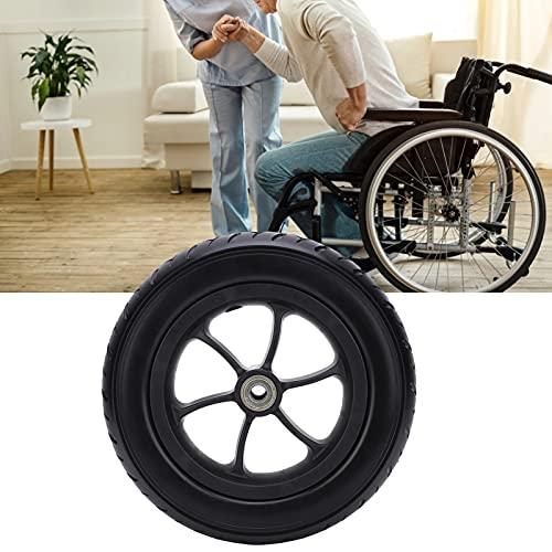 Neumático delantero de silla de ruedas eléctrica, rueda de poliuretano antideslizante Neumático de silla de ruedas eléctrico duradero con poliuretano de buena calidad para ruedas de repuesto