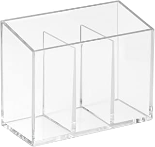 iDesign Clarity Cosmetic Organizer for Vanity Cabinet to Hold Makeup, Beauty Products - Divided, Clear