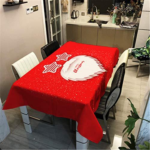 QINQI DecoracióN NavideñA Mantel Impermeable AñO Nuevo Decoraciones De Mesa De Comedor para El Hogar Cubiertas De Mesa Rectangulares 60x60CM