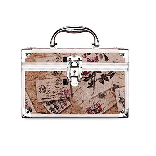 Hadishi Kosmetikkoffer schminkkoffer S/M, Alu multikoffer etagenkoffer Größe und Design aus Aluminium Beauty Case Rollkoffer für Make-up Liebhaber zu Reisen -Tragegriff,B,S