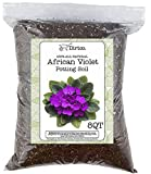 Diaotec African Violet Potting Mixture, All Natural, No Fertilizer Added, 2 Gallon Re-Sealable Bag, Hand Blended in Small Batches - 8QT