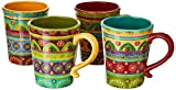 Certified International Tunisian Sunset Mugs (Set of 4), 18 oz, Multicolor,22452SET/4
