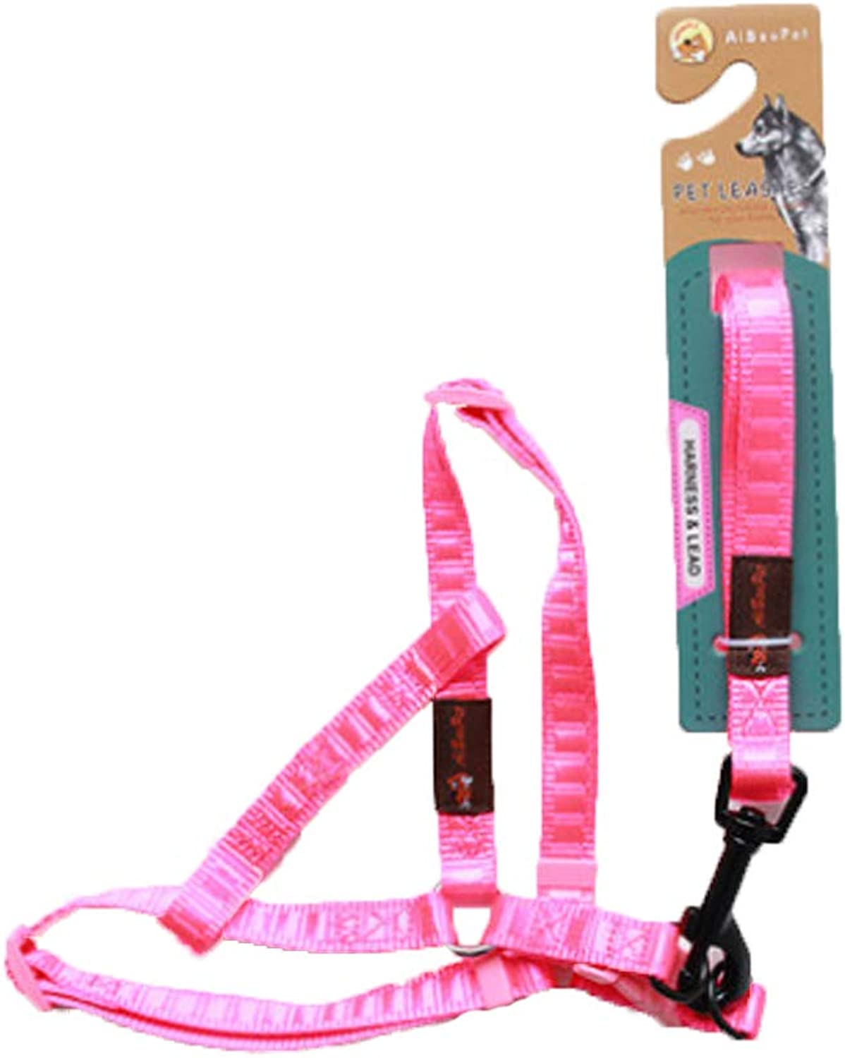 Chest Strap  pet Adjustable Small Dog Chest Strap (color   Pink, Size   Medium)