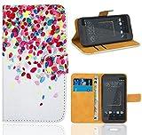 FoneExpert® HTC Desire 530 Case, Premium Leather Flip