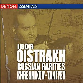 Khrennikov: Concerto for Violin & Orchestra No. 2 - Taneyev: Concert Suite, Op. 28