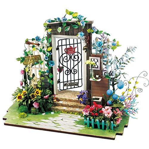 Rolife ドールハウス 木製 3Dパズル ミニチュア DIY 手作り おもちゃ 知育玩具 男の子 女の子 大人 入園祝い 新年 ギフト 誕生日 クリスマス プレゼント 贈り物(庭の入り口)