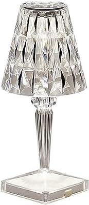 WLL Lampe de Table Diamond créative, Lampe de Table de Chambre à Coucher Rechargeable USB, Lampe de Nuit Romantique pour Salon, Chambre à Coucher, Bureau