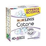 Lines Cotone Ultra Assorbenti con Ali, Pacco Scorta x40+8
