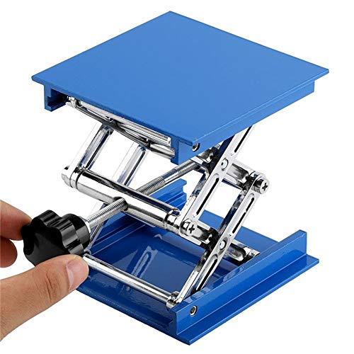 WXH Lab Jack, 4x4 Zoll Chemie Labor Hebebühne, Aluminium Scherenhub Tisch Edelstahl Labor Hebebühne Standgestell