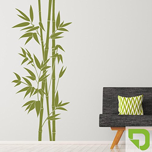 DESIGNSCAPE® Wandtattoo XXL-Bambus | Wandtattoo Pflanze Bamboo 52 x 120 cm (Breite x Höhe) lindgrün DW804164-S-F16
