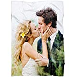 Personalized Throw Blanket Full Color. Custom from Your Photo. Fleece Blanket Super Soft for Baby & Adult. Great Wedding Gifts (Fleece Tall 50'x60', A1)