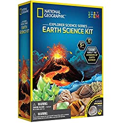 EARTH SCIENCE KIT FOR CURIOUS KIDS - More than 5 experiments to try including building an erupting volcano, growing a crystal, water tornadoes, geological dig kit and more ENOUGH TO GO AROUND - This National Geographic educational science lab allows ...