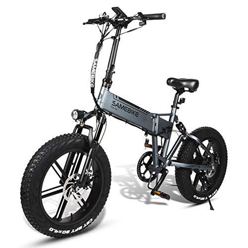CHJ Bicicletta Elettrica 500W 20 Pollici Pieghevole Bicicletta Elettrica Leggera in Lega di Alluminio 48V10AH Motore velocità Massima: 35 Km/H, Universale per Uomini E Donne