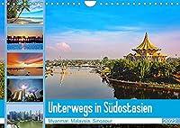 Unterwegs in Suedostasien (Wandkalender 2022 DIN A4 quer): Eine Reise durch Myanmar, Malaysia und Singapur (Monatskalender, 14 Seiten )