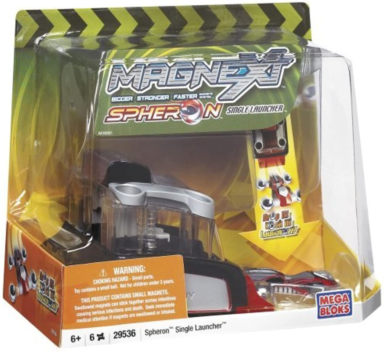Mega Bloks Magnext Spheron single Launcher Red by Magnext
