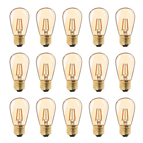 Bombilla LED de filamento vintage ST45, 1 W, E27, base mediana, luz...