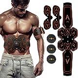 ZHENROG Electroestimulador Muscular Abdominales, Masajeador Eléctrico Cinturón, EMS Estimulador Muscular con USB, 6 Modos y 10 Niveles de Intensidad para Abdomen/Cintura/Pierna/Brazo (Negro)