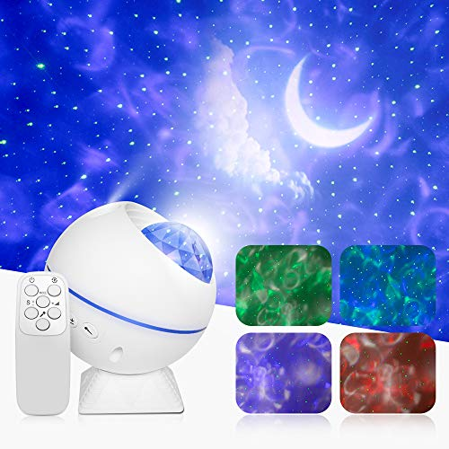 Star Projector, Galaxy Projector, Led Night Light with Remote Control Voice Control,for Bedroom New Year Gift Baby Rooms Starlight Dinners Game Rooms Home Party Gift for Kids
