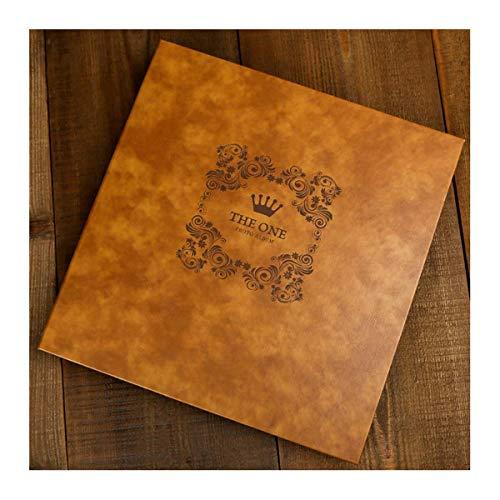 ASDWA Álbumes Álbum de Fotos Autoadhesivo Extragrande de 13.0 x 12.8 pulg, Álbum de Recortes de Gran tamaño para Usted o ser Querido, marrón