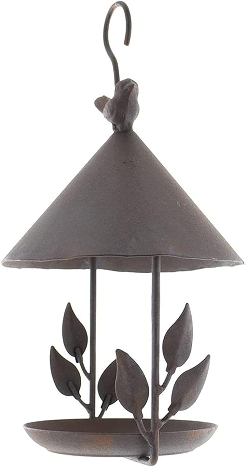 Max 40% OFF N\ A Old Iron Bird House Food Ornaments Craft Feeder Excellence T