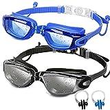 2 Pack Adult Swimming Goggles Swim Goggles No...