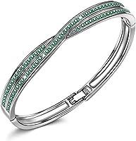 Susan Y Weihnachtsgeschenke Kreuz Armband Damen, Kristalle von Swarovski Damen Schmuck, Patent Design mit Geschenkbox,...