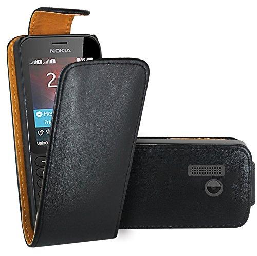 Nokia 215 Hülle, FoneExpert® Hülle Hülle Cover Hüllen Etui Ledertasche Premium Lederhülle Schutzhülle für Nokia 215