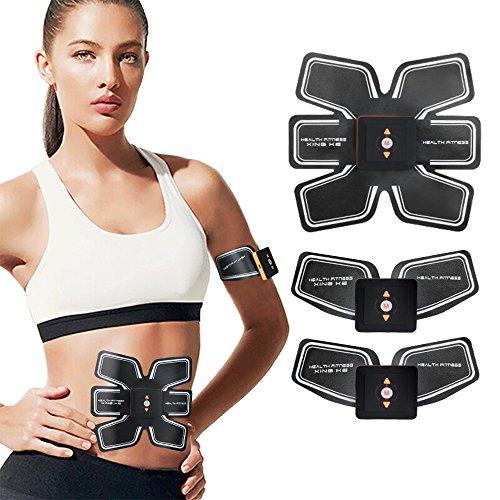 SHENGMI Elettrostimolatore Muscolare Trainer ABS Addominale Fitness Attrezzature Regalo di Natale per Uomini e Donne