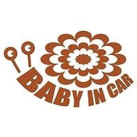 imoninn BABY in car ステッカー 【シンプル版】 No.27 デンデンムシさん (茶色)