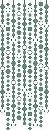 GRAZDesign Muurtattoo Retro - Muursticker slinger - Muursticker met Swarovski kristallen Vintage Style / 850122 79x30cm 840 Pastel Turquoise
